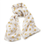 Divadoo White Smiley Face Scarf