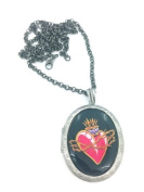 Sacred heart Tattoo Locket Necklace Brand New In Gift Box