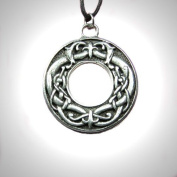Handmade Courtney Davis Viking Beasts Pewter Pendant Necklace for Power and Strength