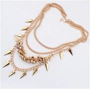 Wind Cone metal Multilayer Collar Necklace