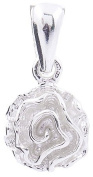 Genuine 925 Sterling Silver Rose Pendant - FREE GIFT BOX