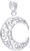 4g of Genuine 925 Sterling Silver C Moon Pendant - FREE GIFT BOX