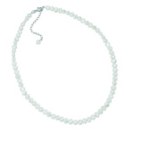 Elements Sterling Silver Ladies' N2507W White Freshwater Pearl Single Row Necklace - 41cm + 5cm EXTENDER