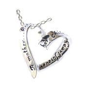 Great Holiday Gift Heart Sterling Silver Pendant Necklace