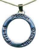 Great Holiday Gift Mother Daughter Friend Open Circle Necklace