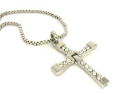 FAST and The FURIOUS DOMINIC'S crystal CROSS PENDANT Necklace prop replica