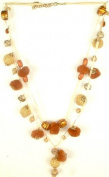 Ethnic Necklace with Pom Poms -