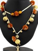 Tri-colour Ethnic Necklace -
