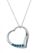 Toucan of Scotland Sterling Silver Open December Birthstone Heart Pendant - 18mm x 18mm with 18 inch curb chain and supplied in our quality gift box.