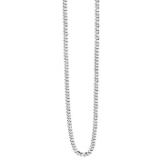 Mens Diamond Cut Stainless Steel Curb Chain by Fred Bennett