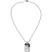 Mens Guess Stainless Steel Dog Tag Necklace UMN81002