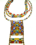 Jewellery Of The Planet Handmade Multicoloured Bohemian Crystal Cleavage Necklace