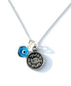 King Solomon Legend Amulets Evil Eye Charm & Protection Solomon Seal Silver Necklace Handmade Jewellery