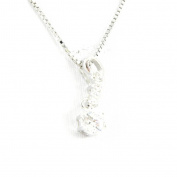 "Necklace silver ""Scarlett"" white."