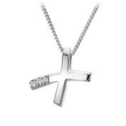 Hot Diamonds 'Kiss me' micro pendant and necklace