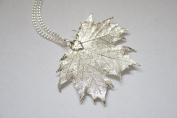 Real Maple leaf silver pendant necklace