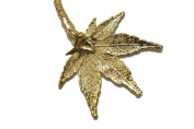 Real Japanese Maple leaf gold pendant necklace