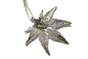 Real Japanese Maple leaf silver pendant necklace