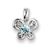Sterling Silver Aquamarine Pendant - JewelryWeb
