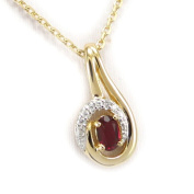 """Gold plated necklace """"Scarlett""""ruby."""