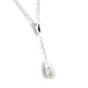 """Necklace silver """"Déesse"""" white."""