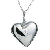 Hot Diamonds Starry Heart Silver and Diamond Pendant of 76cm