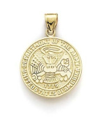 14ct US Army Pendant - JewelryWeb