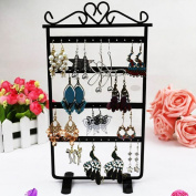 chinkyboo Caltrad Black 48 Holes Stand for Earring Holder Jewellery Hanging Display