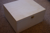 PLAIN WOOD WOODEN BOX DECOUPAGE 29 x 25 x 15 cm (P29/15) unfinished wooden box