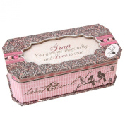 """Pink Paisley Collection Sentimental Musical Jewellery Box """"Gran"""" Gift"""