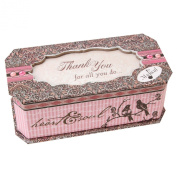 """Pink Paisley Collection Sentimental Musical Jewellery Box """"Thank You"""" Gift"""