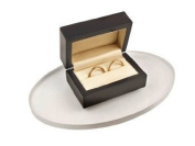 Frosted Medium Oval Jewellery Display Plinth -