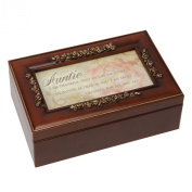 """Petite Rose Collection Sentimental Musical Jewellery Box """"Auntie"""" Gift"""