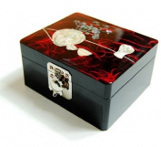 Wooden jewellery box, mother of pearl gift, vase