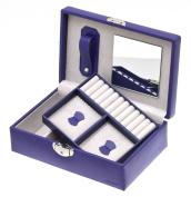Davidt's Euclide Violet Purple Small Rectangular Lockable Jewellery Box