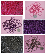 Pack of 10 - 25mm Round Mixed - Double Loop Split Ring for Keyrings and Craft Making