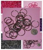 Pack of 25 - 38mm Round Silver Colour - Double Loop Split Ring for Keyrings and Craft Making