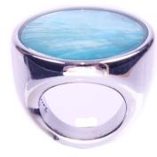 Large Turquoise Capiz Ring