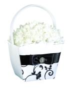 Black & White Flower Basket
