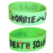 Cosmic Zombie Death Squad Rubber Wristband Green