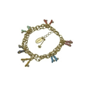 Disney Couture Gold Tink Slipper Charm Bracelet