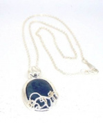 Vampire Diaries Katherine's Antisunlight Modern Lapis Pendant Necklace, prop replica