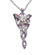 Lord of the Rings Evenstar Arwen Pendant Platinum plate, PROP REPLICA