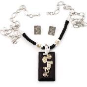 Ethnic Wooden Pendant Long Fashion Jewellery Set