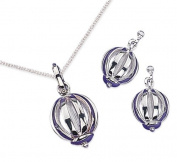 Elina H Sterling Silver Caged-Sphere Shaped Jewellery Set