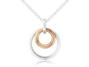Gemma J Silver and Rose Gold Vermeil Eternity Necklace N208
