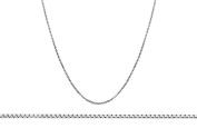 Silver 15 Box Adjustable Chain 41cm- 46cm