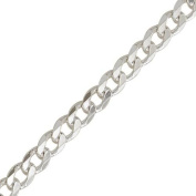 Silvadore - Mens Silver Curb Chain - 20'' (51cm) 36G 8mm Solid Flat Thick Heavy Strong - 925 Sterling Silver Plated. GUARANTEED QUALITY