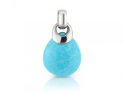 Sterling Silver Turquoise Pear Shape Pendant On An 46cm Chain