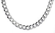 Silver Flat Curb Chain Necklace 51cm/20""